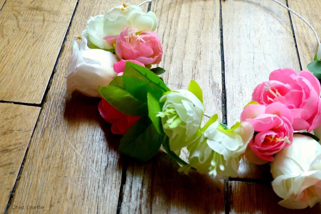 DIY couronne de fleurs - Un spécial tête couronnée - Chez Lisette