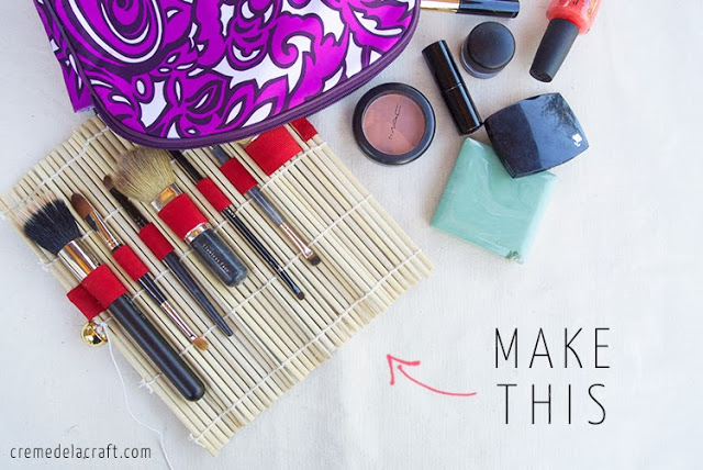 DIY-Tutorial-How-To-Make-Makeup-Brush-Brushes-Travel-Kit-Roll-Handmade-Craft-Project-Easy-No-Sew-Unique-Idea-Upcycle