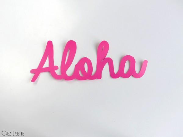 Chez Lisette DIY déco tropicale en papier aloha
