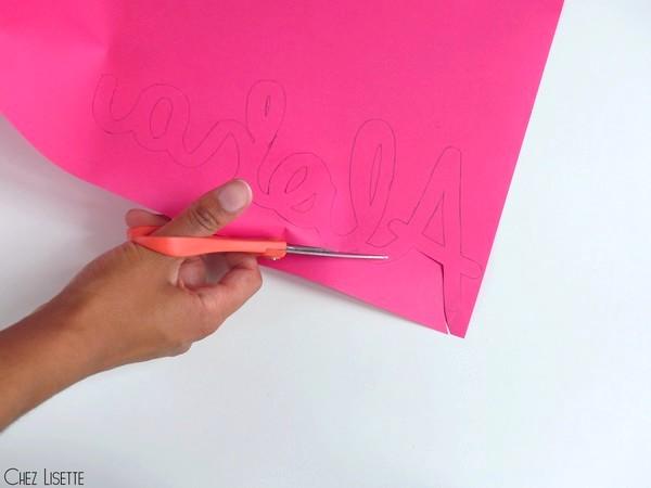 Chez Lisette DIY déco tropicale en papier découpage
