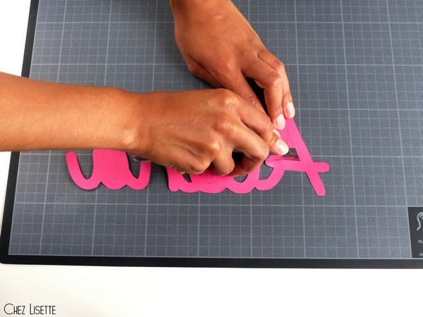 Chez Lisette DIY déco tropicale en papier cutter2