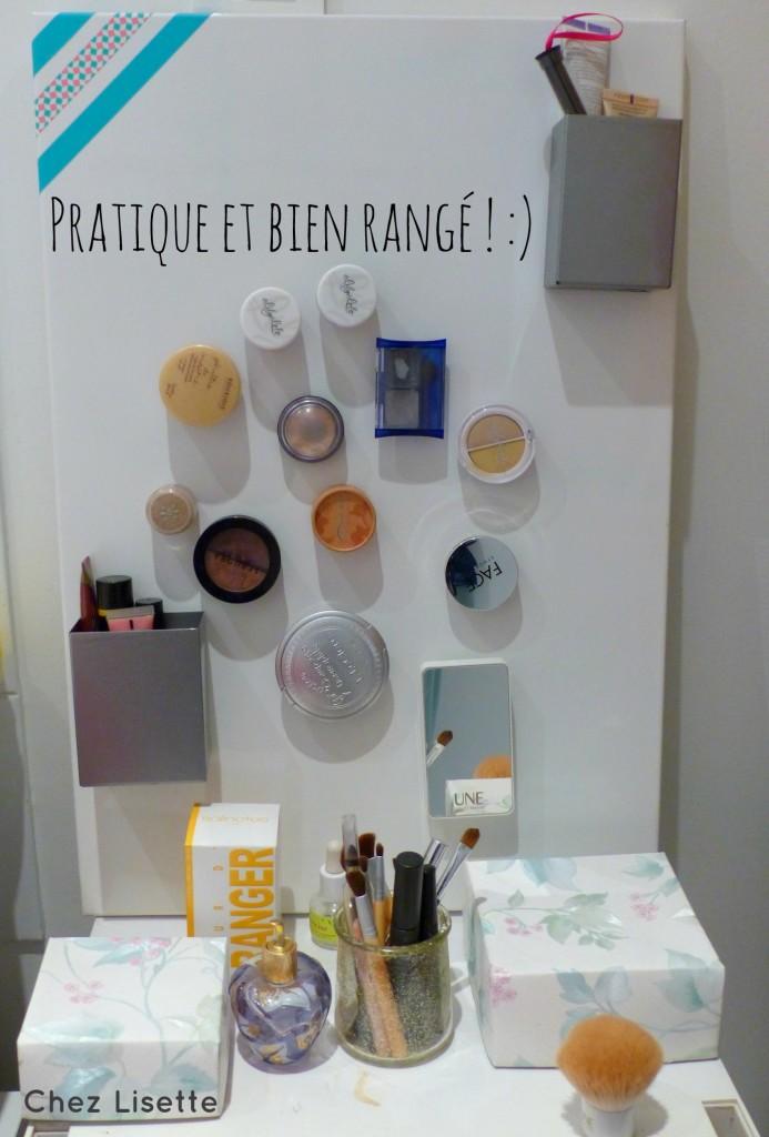 Diy Rangement Mon Maquillage Enfin Port E De Main Chez Lisette