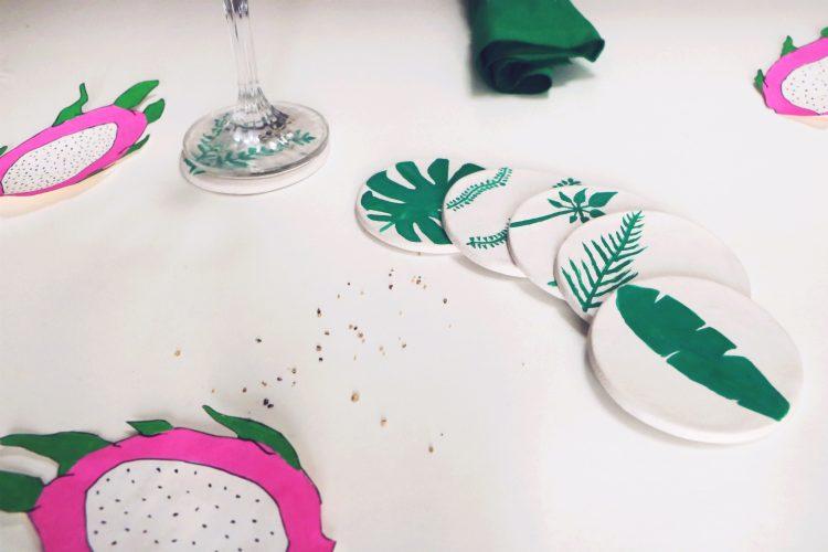 Chez Lisette DIY sous-verres tropicaux 9